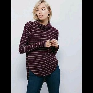 We The Free People Striped Turtleneck Thermal UO S